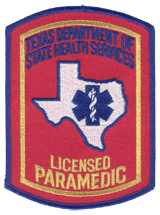 Texas Paramedic Patch