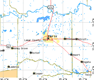 Map of Lamar County