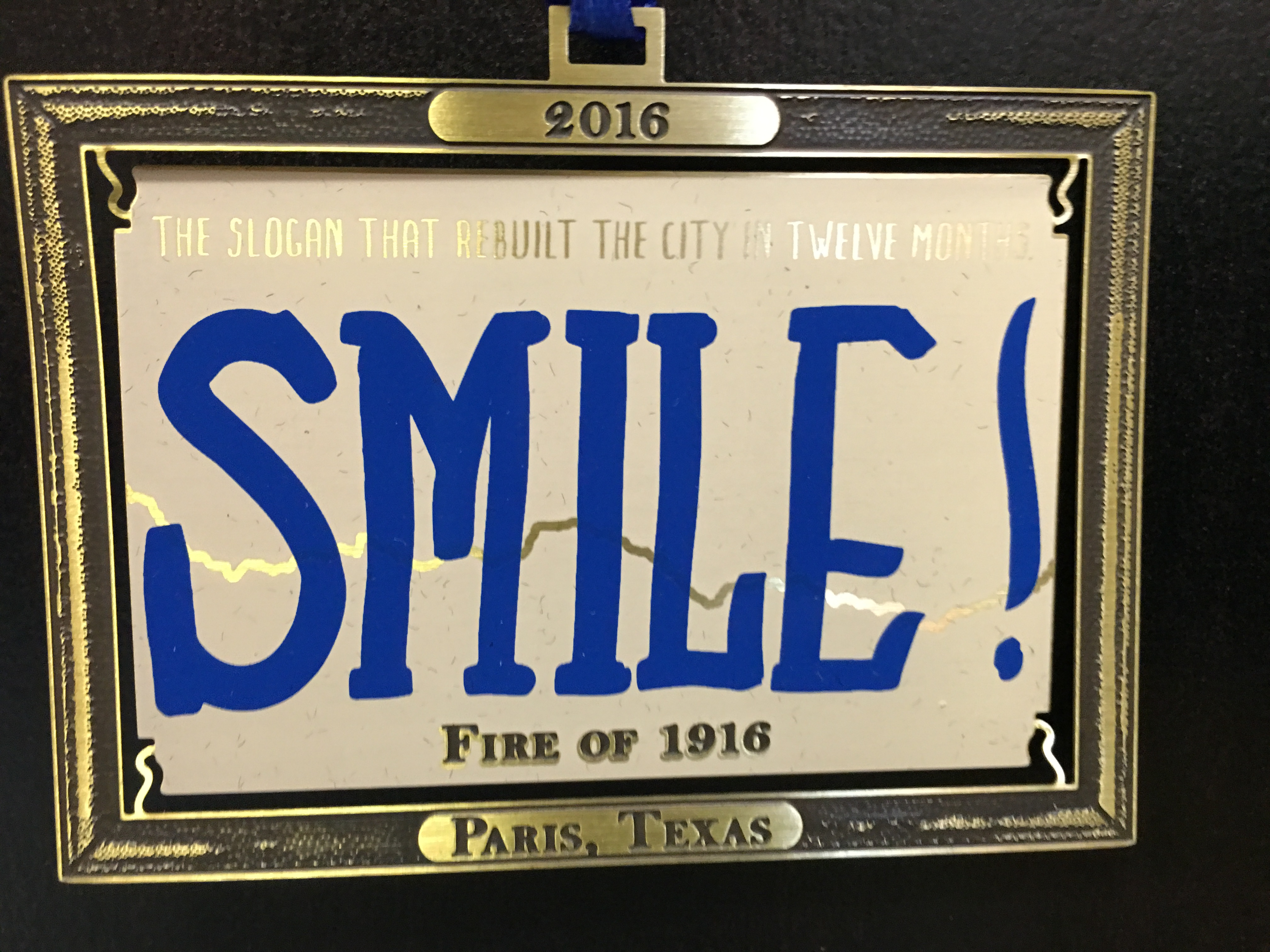 "Paris ""SMILE"" Commemorative Ornaments"