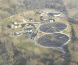 aerial view of the Wastewater Plant