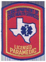 Texas Paramedic Patch